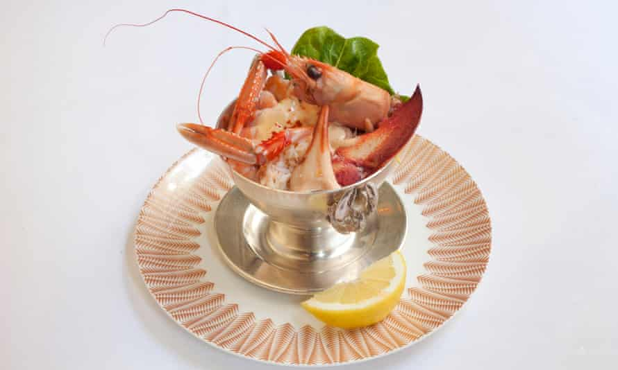 'Essentially a compact fruits de mer, in which all the hard work has already been done': shellfish cocktail.