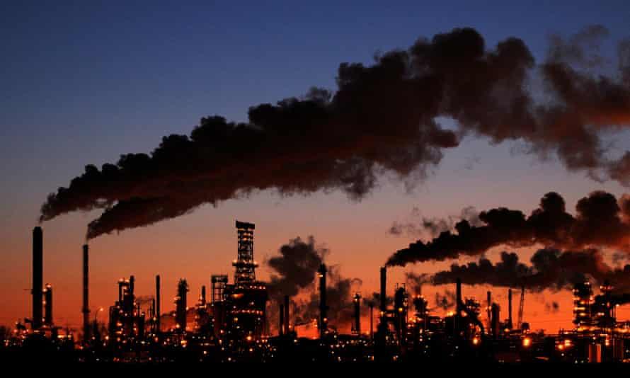 An oil refinery in Canada