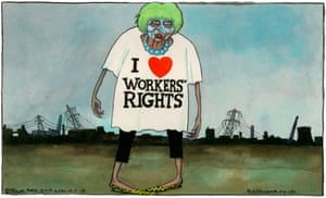 Steve Bell on Theresa May's support for workers – cartoon | Opinion
