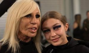 Donatella Versace with model Gigi Hadid.