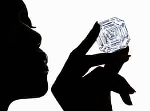 London, UKThe Graff Lesedi La Rona - the largest highest colour, highest clarity diamond ever graded by the GIA. The principal diamond revealed from the 1,109 carat Lesedi La Rona rough diamond weighs 302.37 carats.