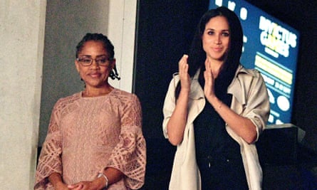 Doria Ragland (left) and Meghan Markle at the Invictus Games.