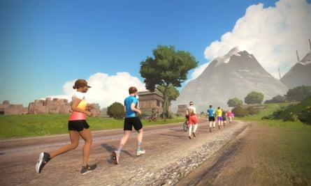Zwift runners