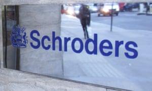 Schroders sign