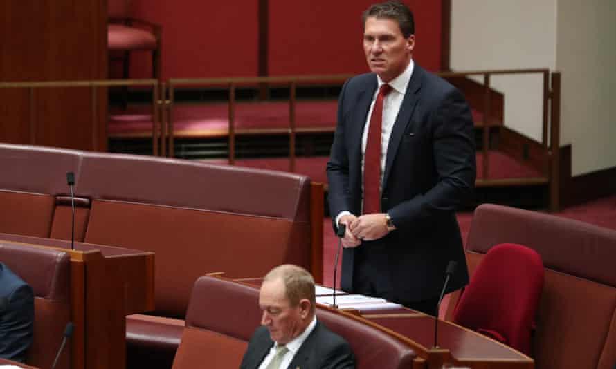 Australian Conservatives' Cory Bernardi, top, and Fraser Anning.