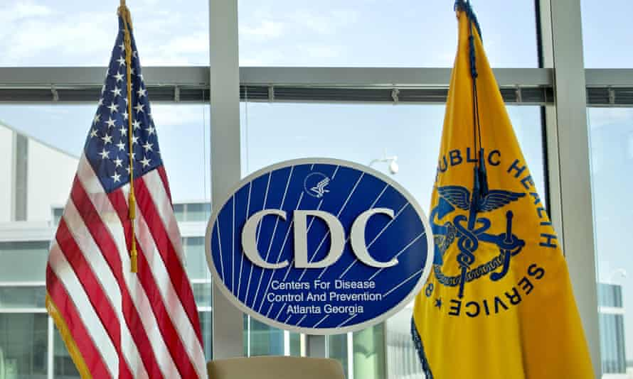 A Centers for Disease Control and Prevention logo at the agency's federal headquarters in Atlanta.