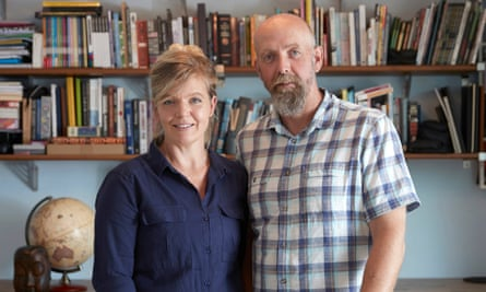 Emily and Lawrence Alisons - husband and wife psychology team shot at home