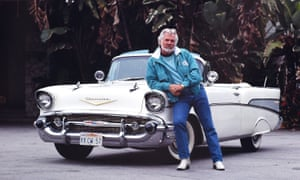 Kenny Rogers with his 1957 convertible Chevrolet in Beverly Hills, Los Angeles, in 1990.