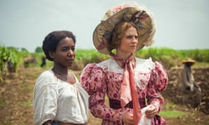 Tamara Lawrence as July and Hayley Atwell as plantation owner Caroline Mortimer in The Long Song.