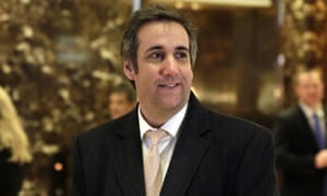 Michael Cohen, personal attorney for Donald Trump, at Trump Tower in New York.