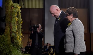 Australian governor general Sir Peter Cosgrove and his wife