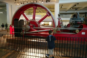 A young visitor at the Science Museum, which has also had school trip cancellations.