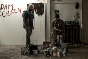 Daniel Henshall as Adam Cullen and Toby Wallace as Erik Jensen in Acute Misfortune