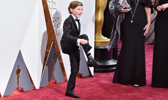 Jacob Tremblay, star of Room, shows off his socks