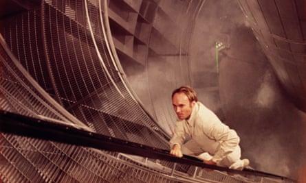 Techno-thrills … James Olson in the 1971 film of Michael Crichton's The Andromeda Strain.