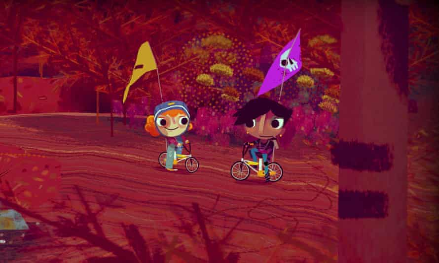 Heartwarming whimsy … Knights and Bikes.