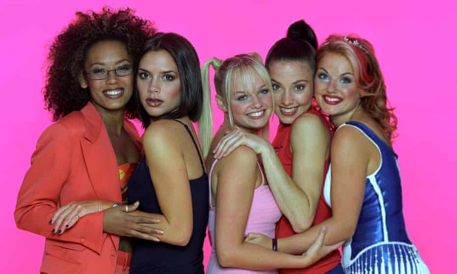 Stars from the start … Spice Girls in 1997.