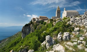 the ancient fortified village of Lubenice, on the island of Cres, Croatia