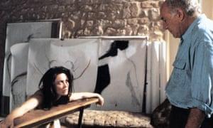 'A very male fantasy' ... Piccoli with Emmanuelle Béart in La Belle Noiseuse.