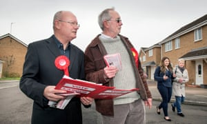 Jim Grant, leader of the Labour group on Swindon council (left), with candidate Barrie Jennings