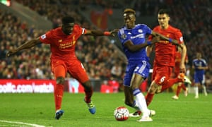 Tammy Abraham in action for Chelsea against Liverpool