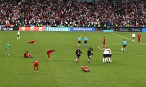 England players celebrate after the final whistle.