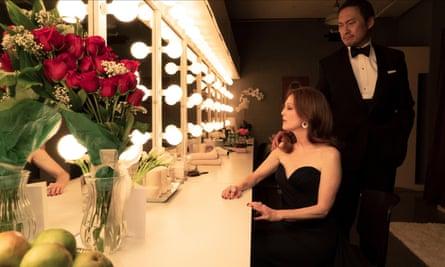 Julianne Moore and Ken Watanabe in Bel Canto.