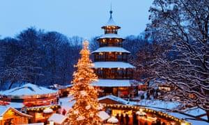 A Christmas market in Munich