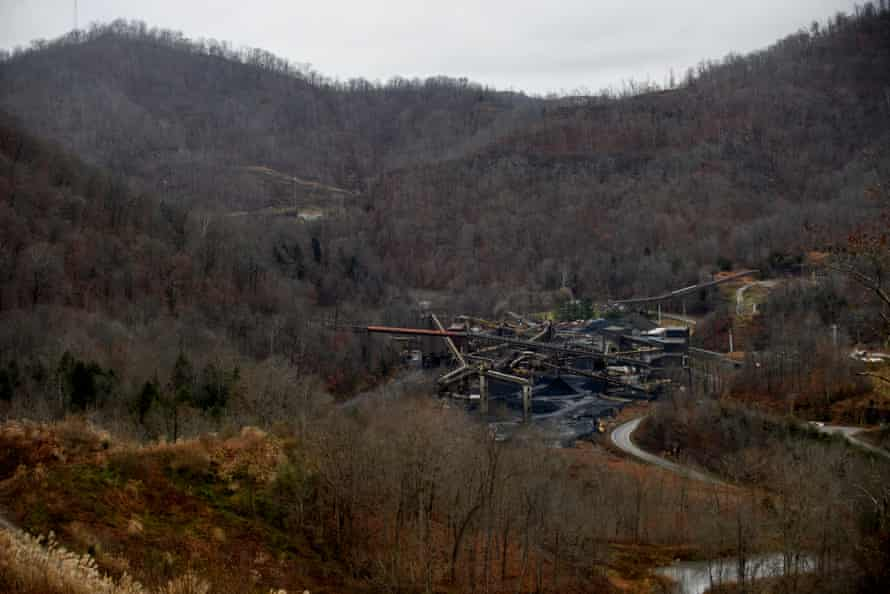 The Bevins Branch Mine in Phelps, Kentucky, outside Pikeville. The mine operates with about 100 miners and typically will extract 30% useable, metallurgical-grade coal after separating it from the raw material coming from the mine.(Jeff Swensen for The Guardian)