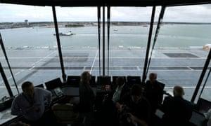 The flight deck of HMS Queen Elizabeth