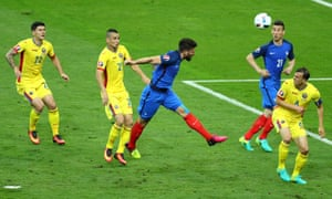 Classic Giroud, again evading his marker, again failing to find the target.