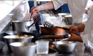 A British restaurant cooking service