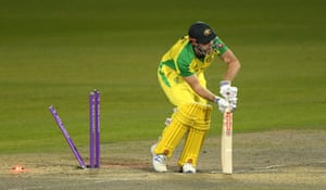 Marsh, bowled by Archer.