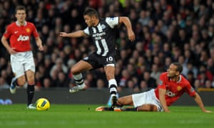 Hatem Ben Arfa in action for Newcastle.