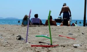 Plastic on a Greek beach