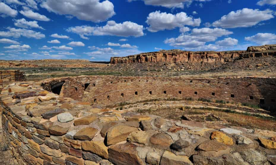 The Chaco culture national historical park, in New Mexico.