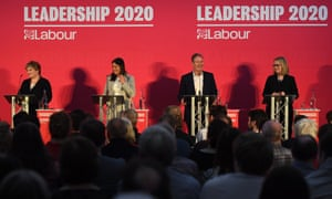 Labour leadership candidates (L-R) Emily Thornberry, Lisa Nandy, Keir Starmer and Rebecca Long-Bailey taking part in the hustings in Bristol.