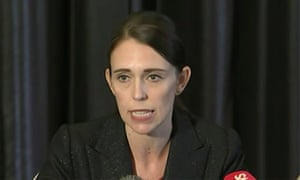 Prime minister of New Zealand Jacinda Ardern, talking to the media about the Christchurch shooting.