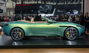 An Aston Martin DB11 Volante car is on display during the 16th Guangzhou International Automobile Exhibition at China Import and Export Fair Complex on November 16, 2018.