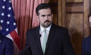 Ricardo Rosselló, seen on 16 July.
