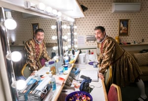 Nathaniel Parker in the dressing room