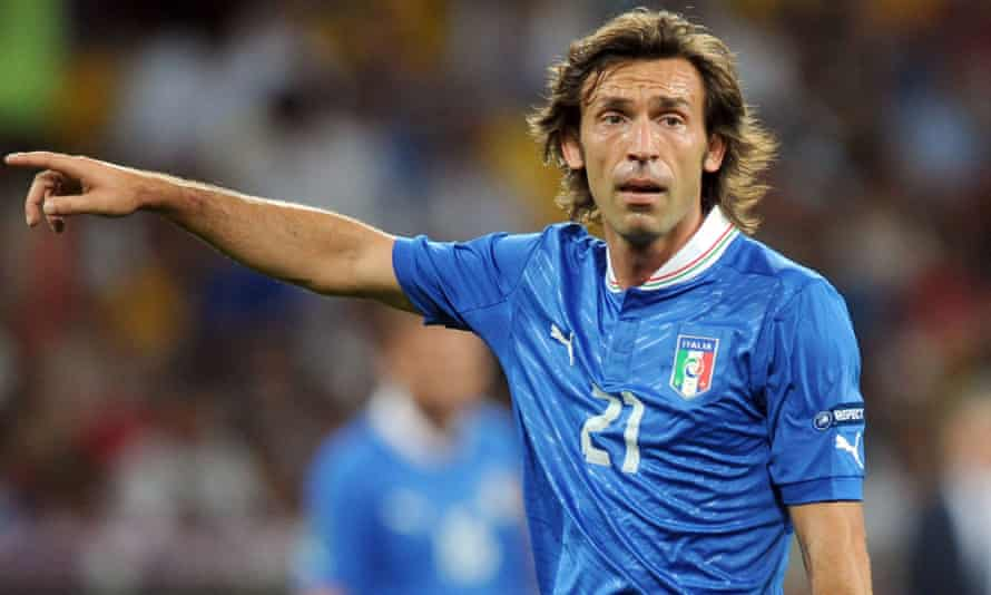 Andrea Pirlo playing against England in Euro 2012