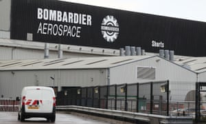 The Bombardier Aerospace plant in Belfast.