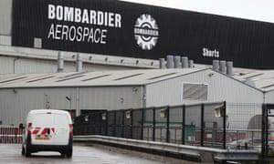 The Bombardier Aerospace plant in Belfast.
