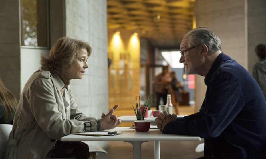Charlotte Rampling and Jim Broadbent as Veronica and Tony in The Sense of an Ending.
