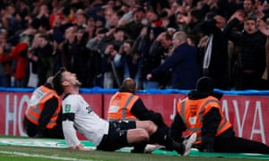 Derby County's David Nugent reacts after missing a chance to score