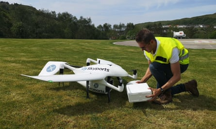 A Skyports drone is tested.