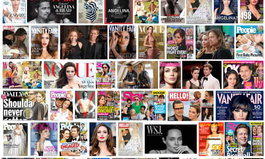 Publicity players … just some of the magazine covers they have graced.