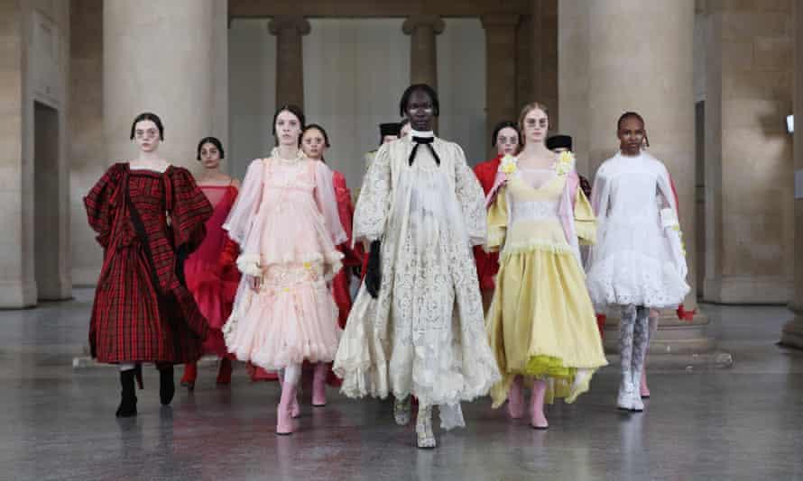 Bora Aksu digital presentation at London fashion week on Friday