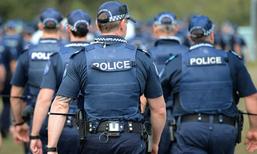 a group of Queensland police officers